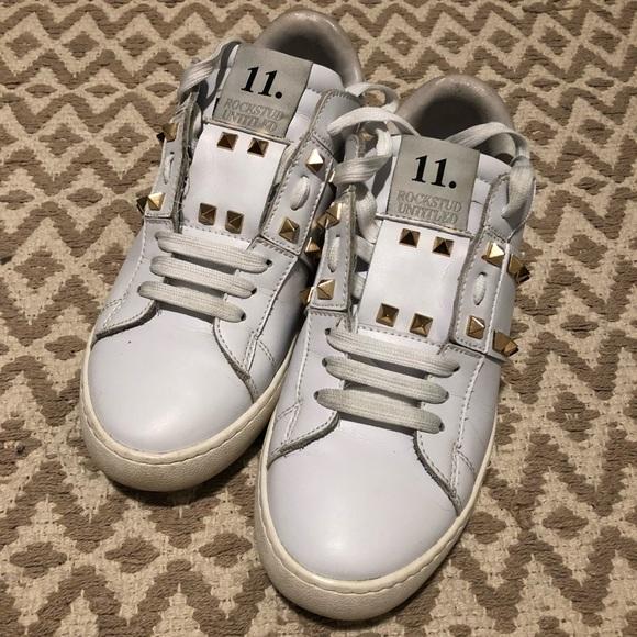 24ecd319da8c3 White Valentino  Rockstud Untitled  Sneakers. M 5b959b5e2e1478837beb8878